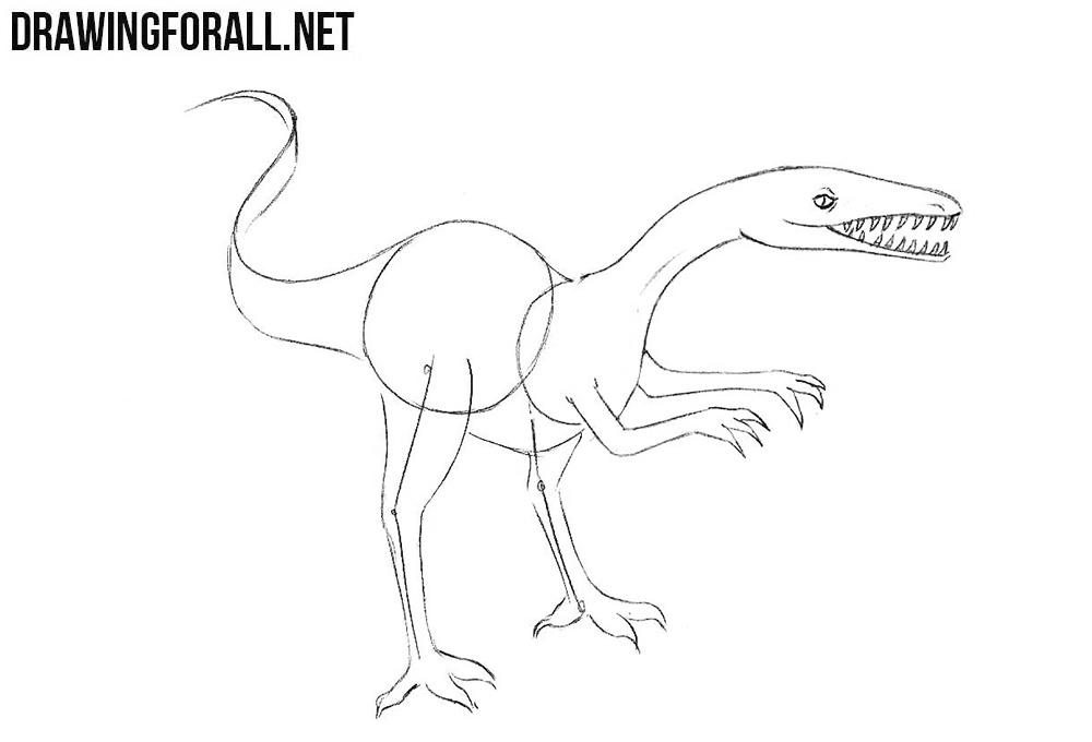 How to sketch a dinosaur