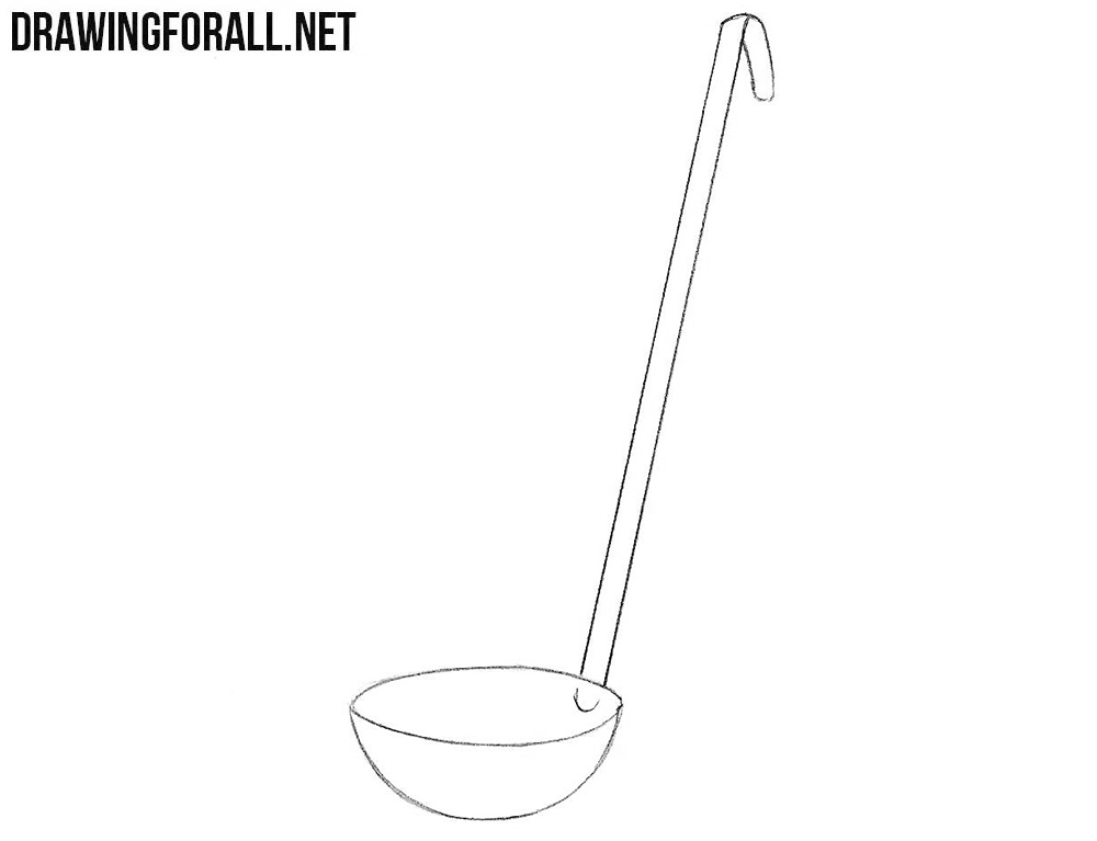 How to sketch a ladle