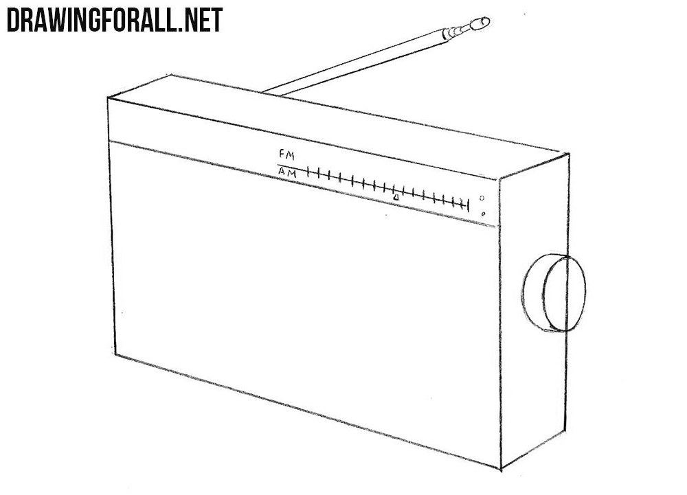 How to sketch a radio step by step