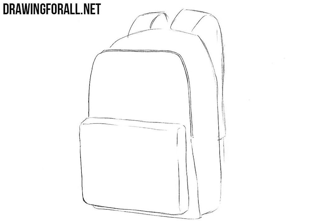 How to sketch a schoolbag