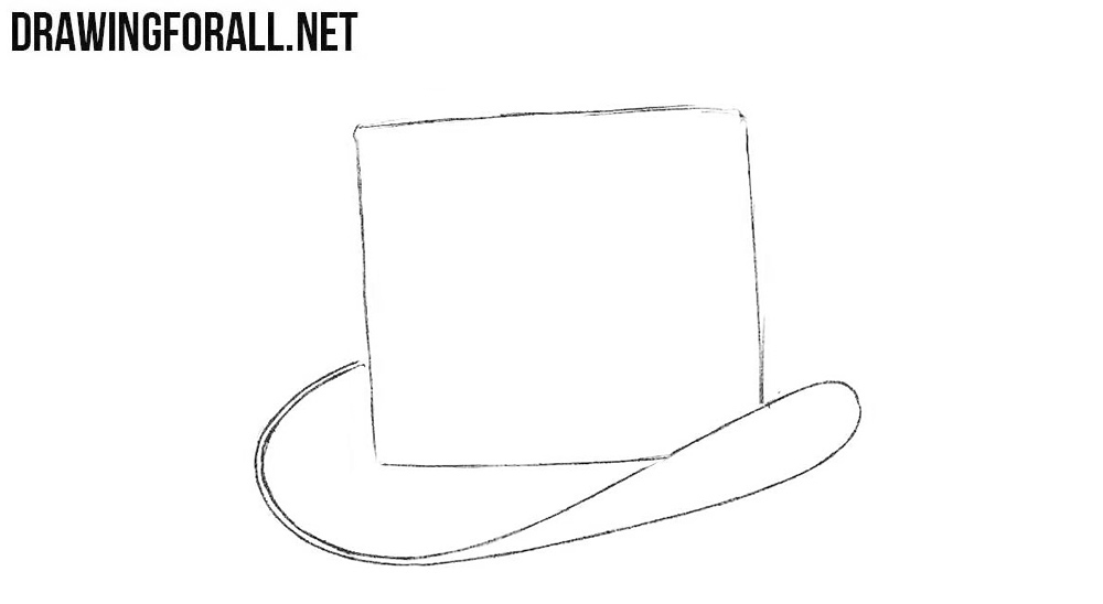 3 How to sketch a top hat step by step