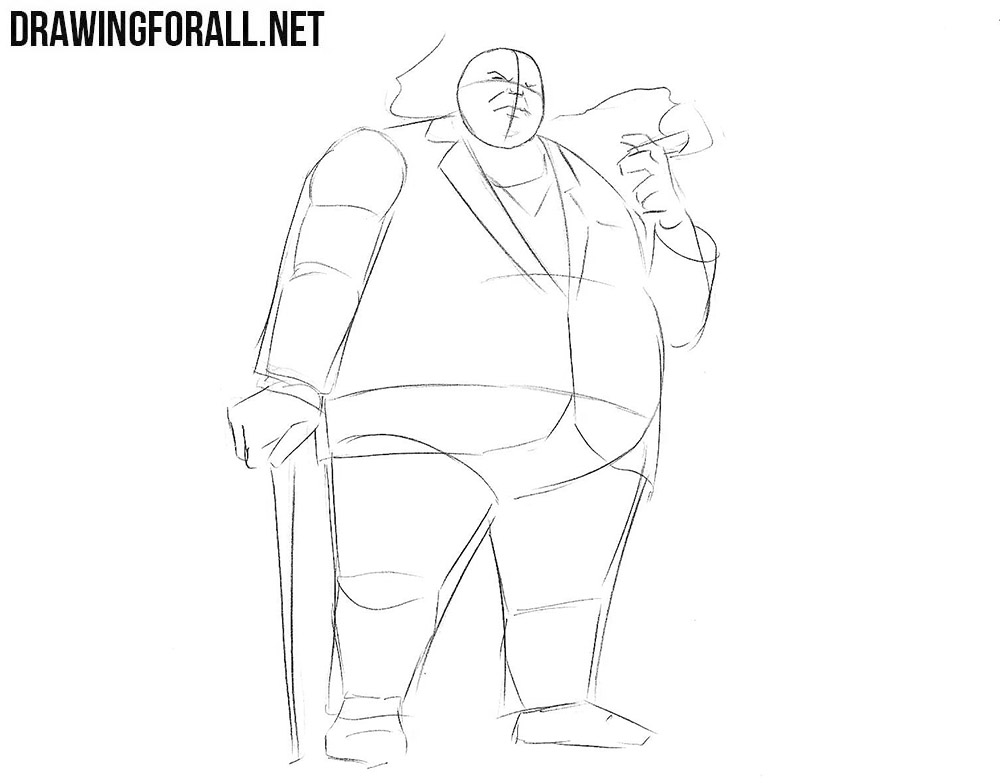 Hwo to draw Kingpin from Spider-Man