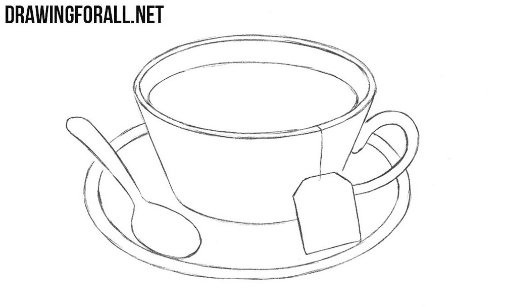 Learn how to draw a cup of tea