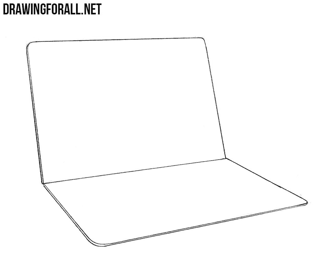 Learn to draw a macbook step by step