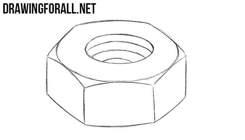 Nut drawing tutorial