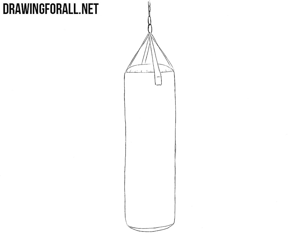 Punching bag drawing
