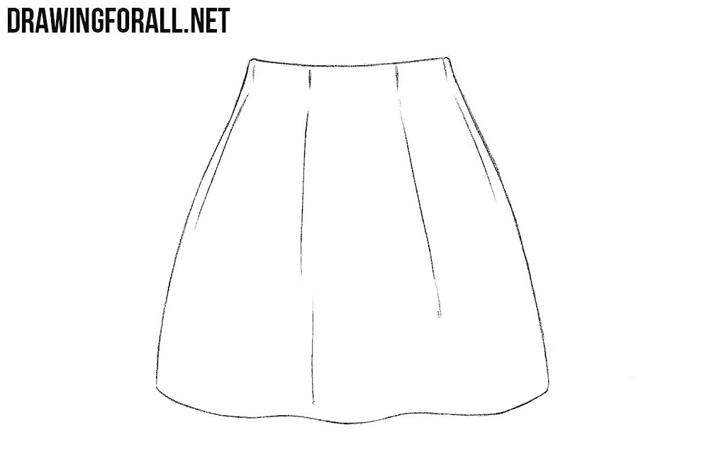 Skirt drawing tutorial