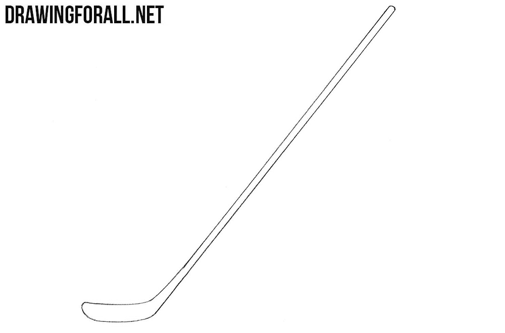 how to draw a Hockey stick easy