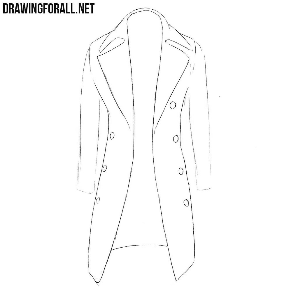 how to sketch a coat step by step