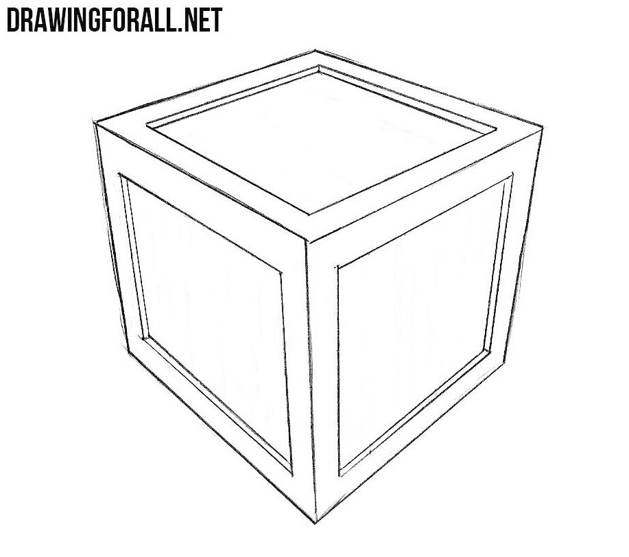 learn to draw a box step by step