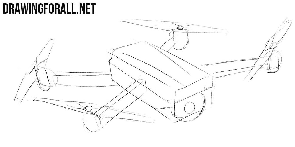 learn to draw a quadcopter