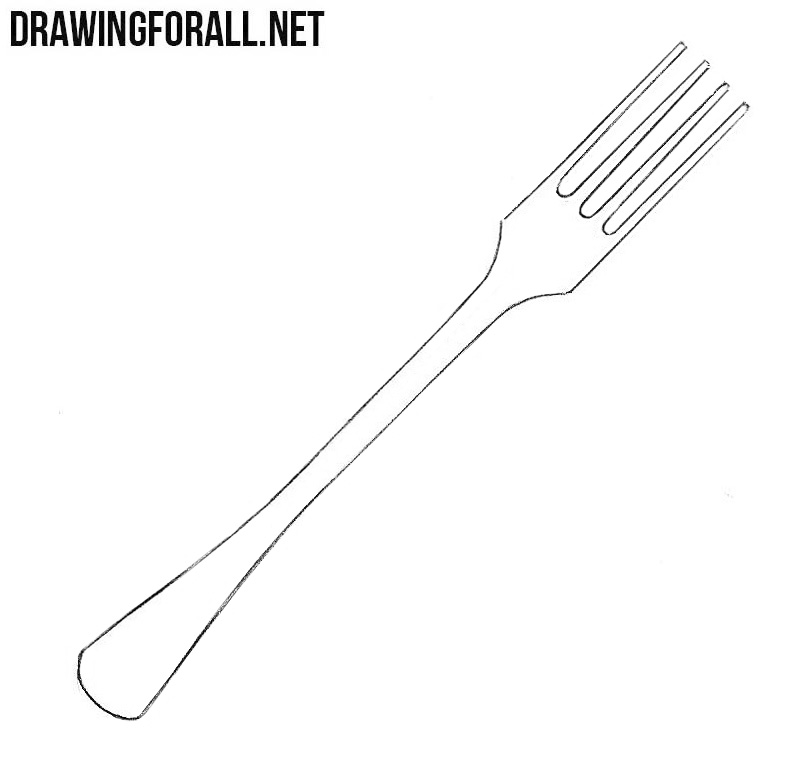 Fork drawing tutorial