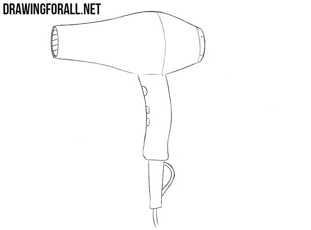 Hair dryer drawing tutorial