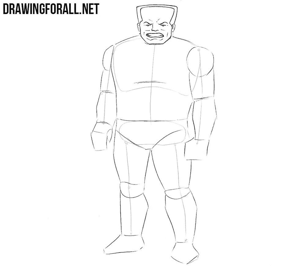 How to draw Hammerhead from Marvel step by step