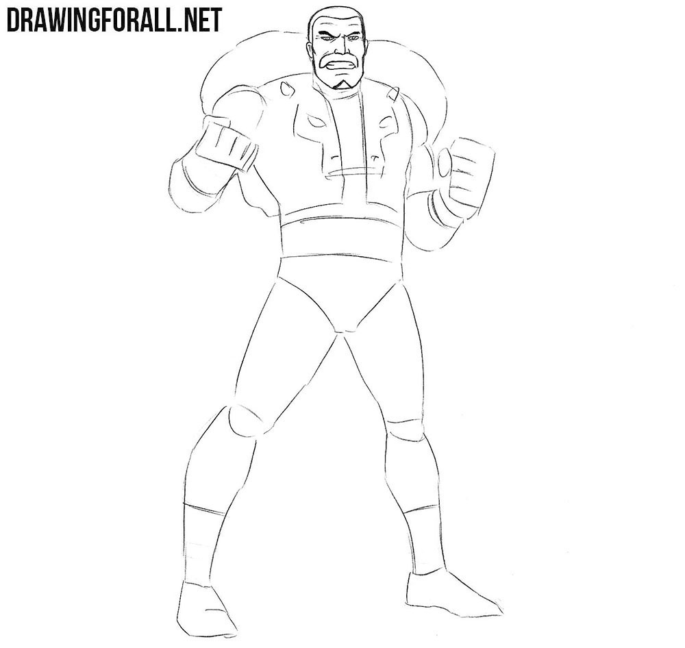 How to draw Kraven the Hunter from Spider-Man