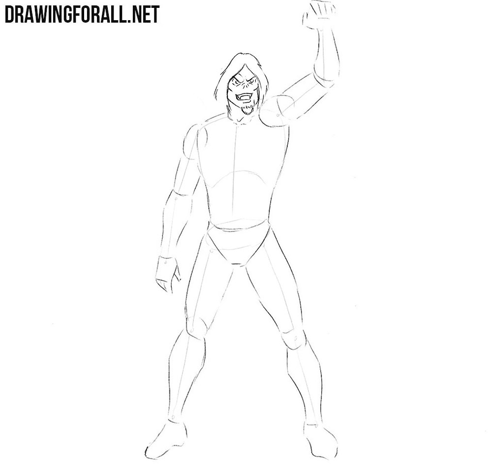 How  to draw Morbius from Spider-Man