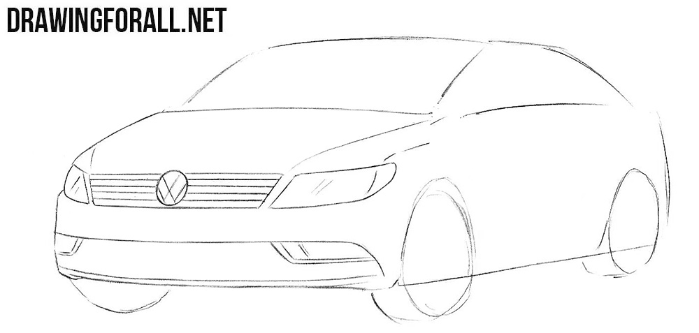 How to draw a Volkswagen Passat