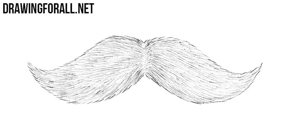 How to draw a mustache