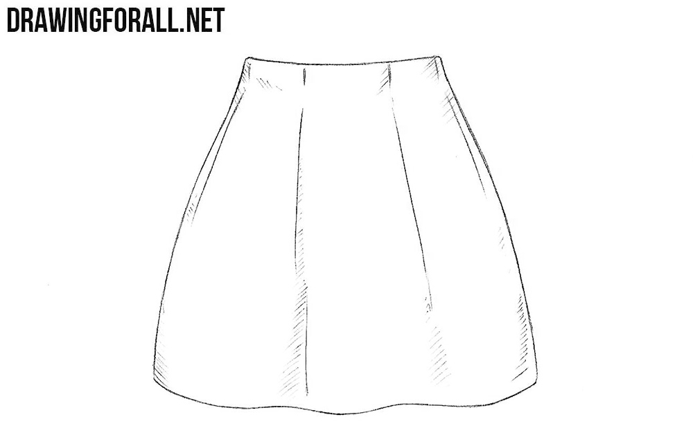 How to draw a skirt