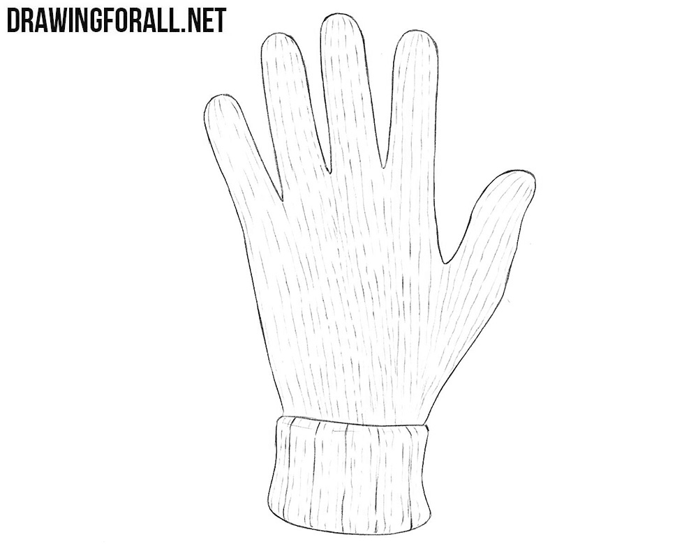 How to draw gloves