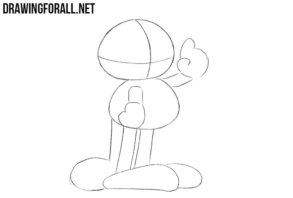 How to sketch Garfield step by step