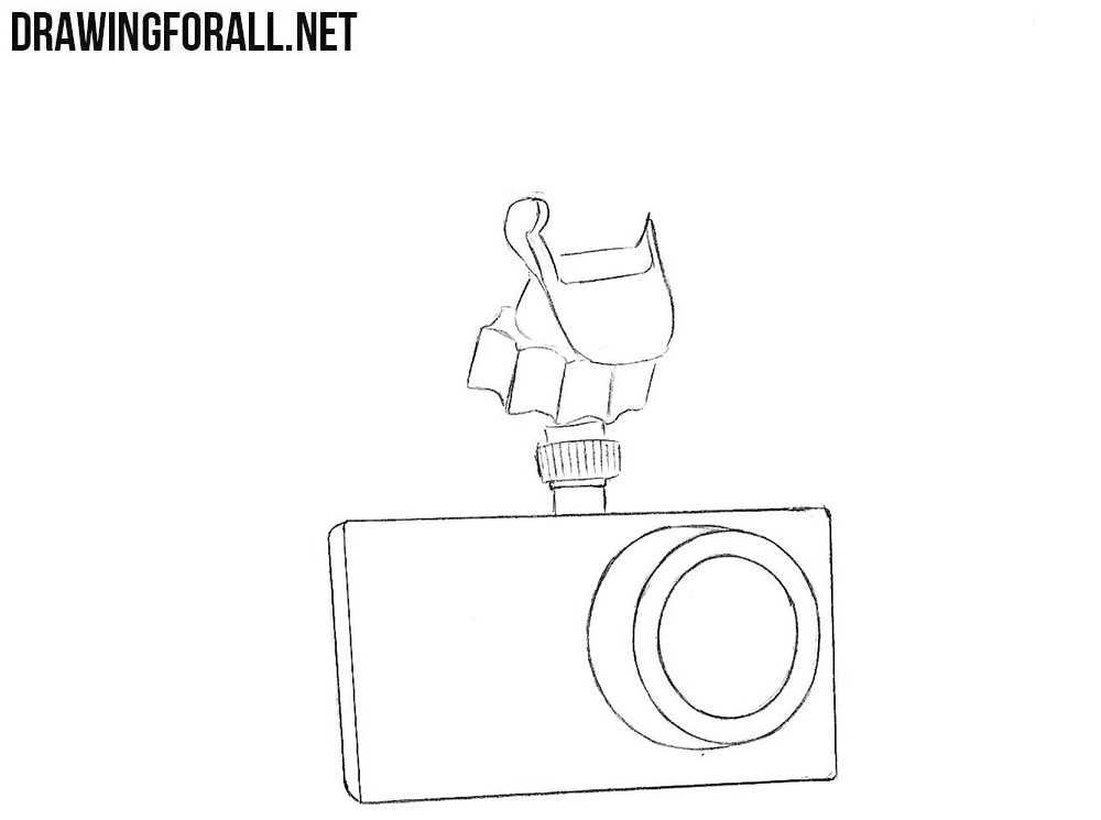 How to sketch a dash cam