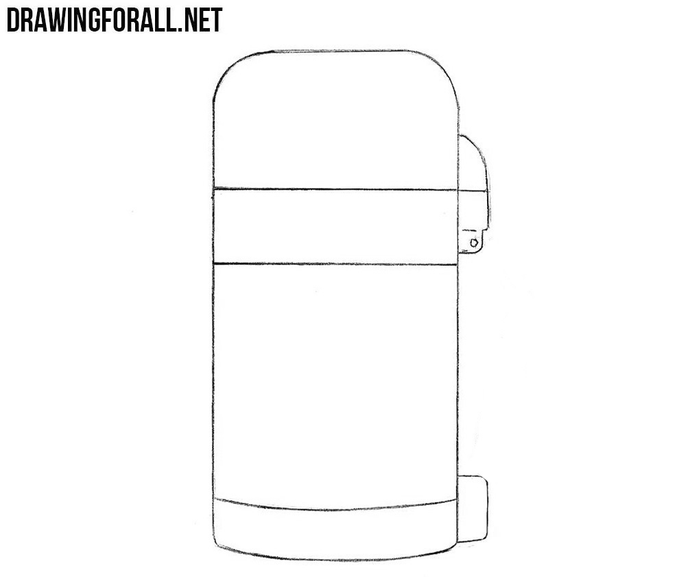 How to sketch a thermos