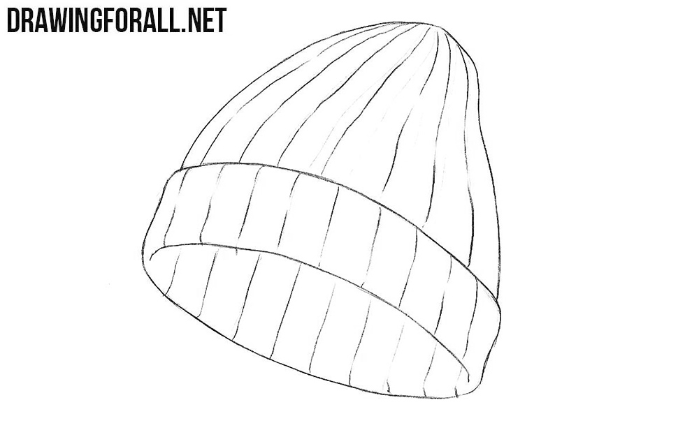 how to draw a winter hat
