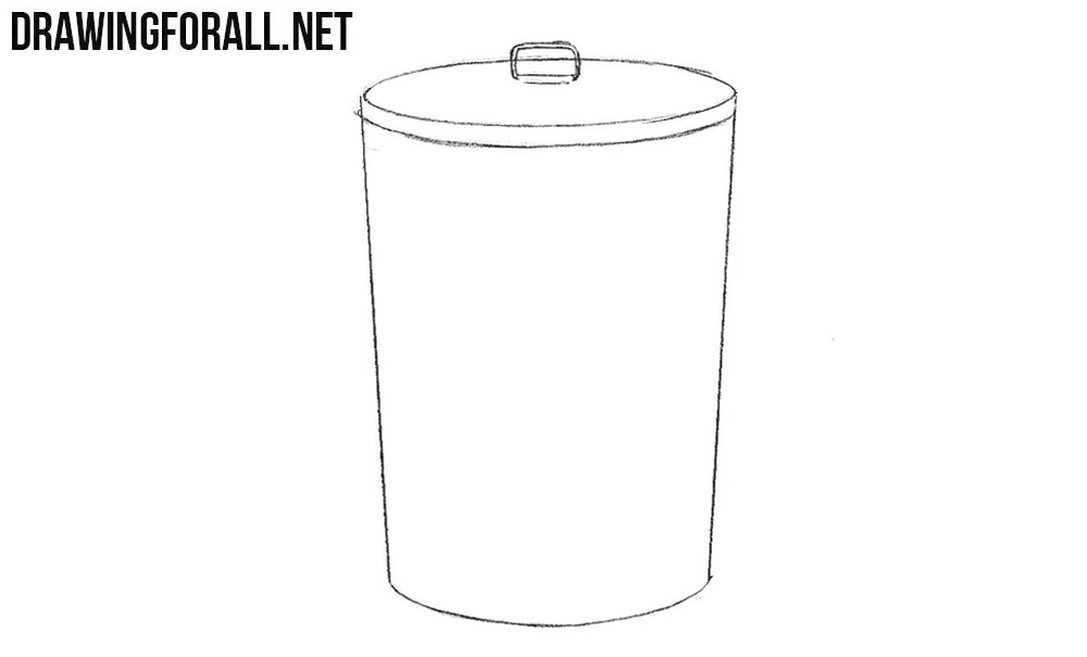 Learn how to draw a trash can step by step