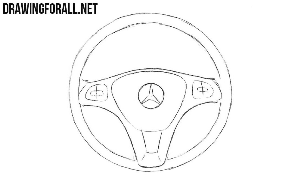 Learn to draw a steering wheel