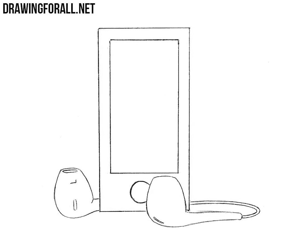 MP3 player drawing