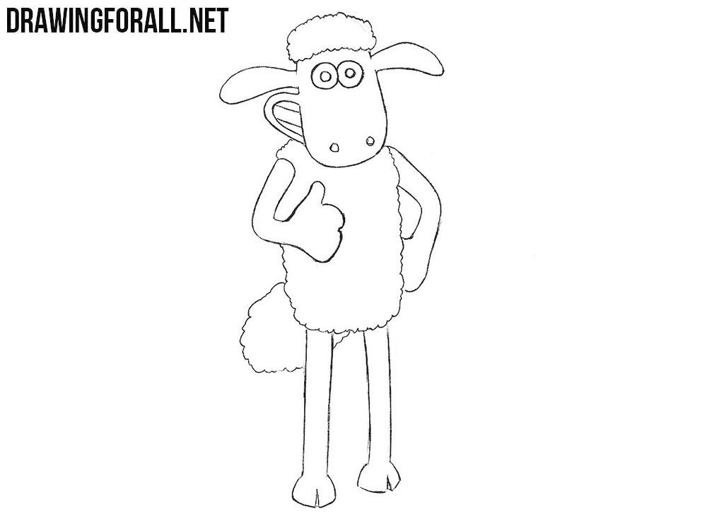 Shaun the Sheep drawing