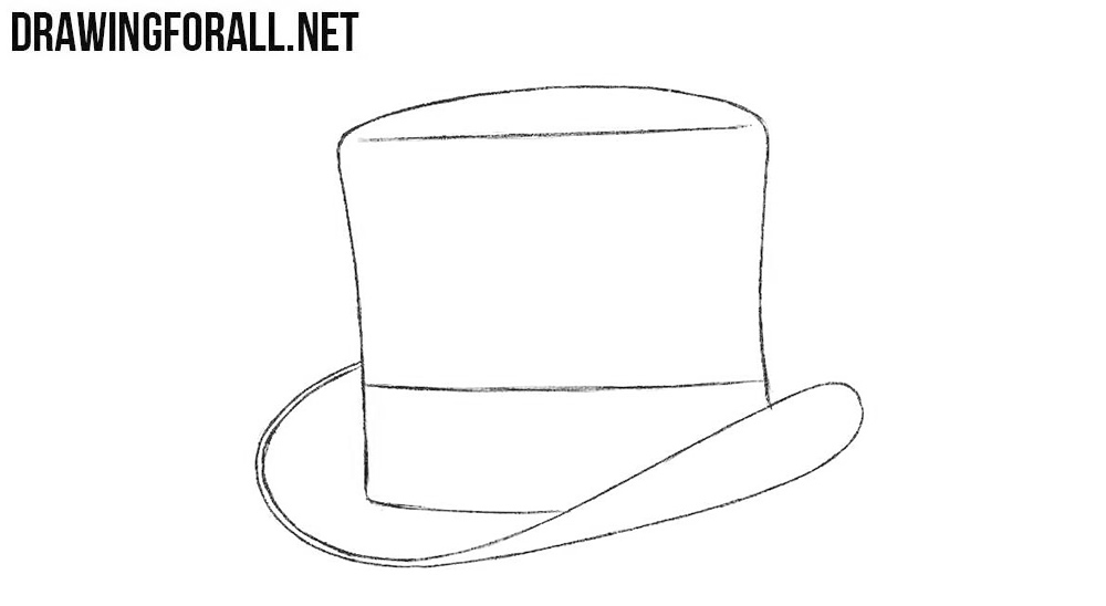 4 Top hat drawing