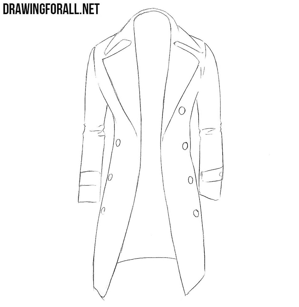 coat drawing tutorial