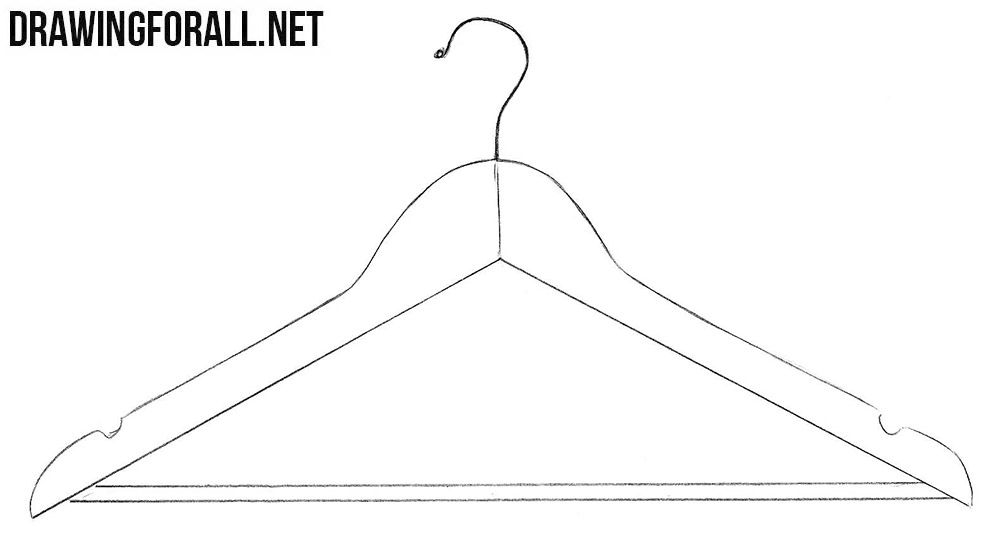 how to draw a hanger