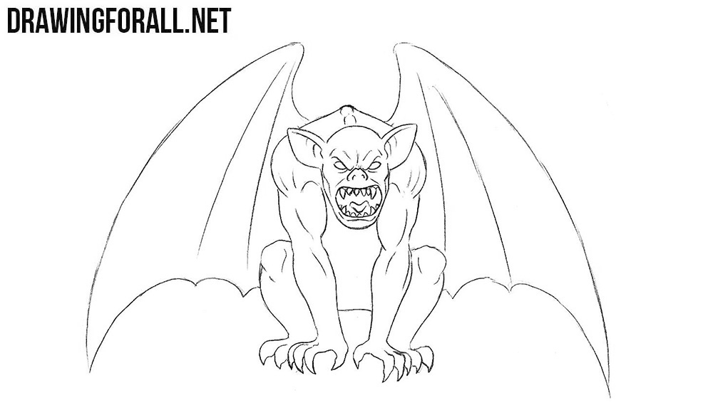 Gargoyle drawing tutorial