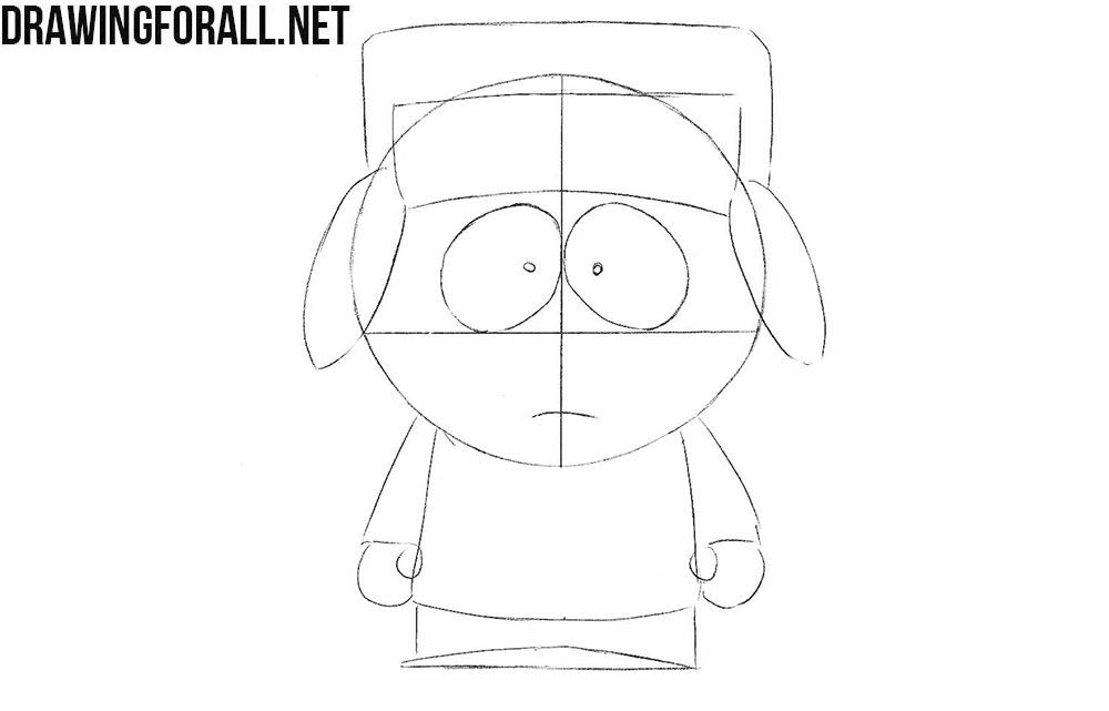 How to draw Kyle Broflovski from South Park