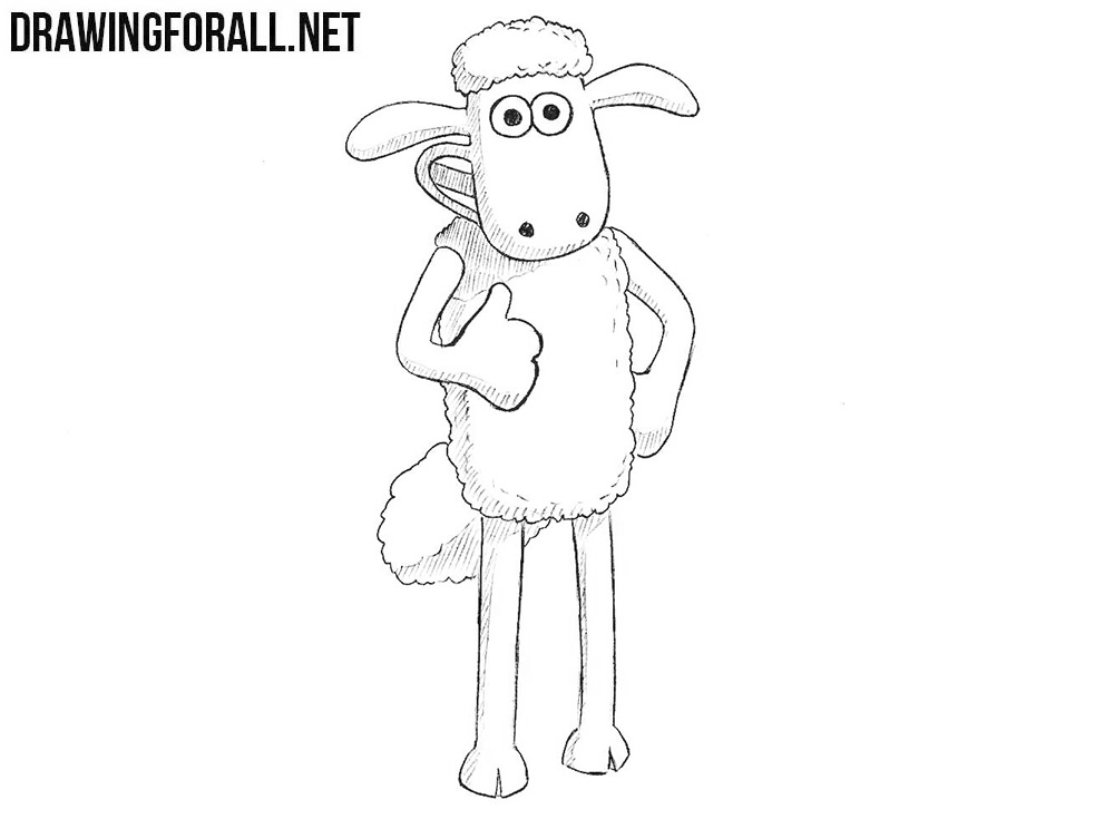 How to draw Shaun the Sheep