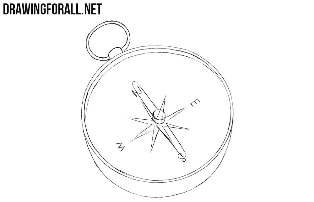How to draw a compass easy