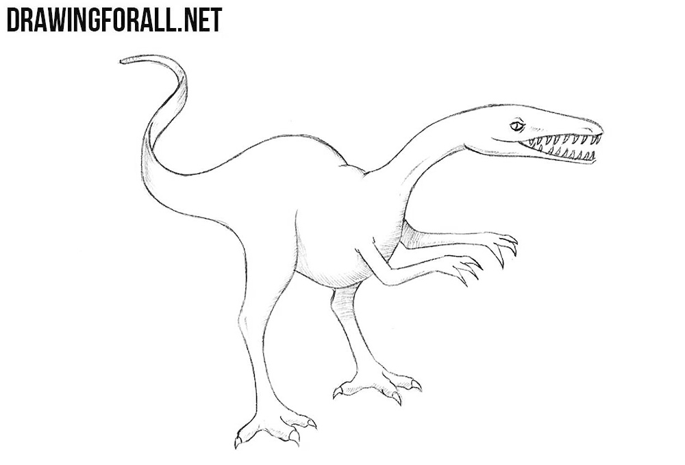 How to draw a dinosaur step by step