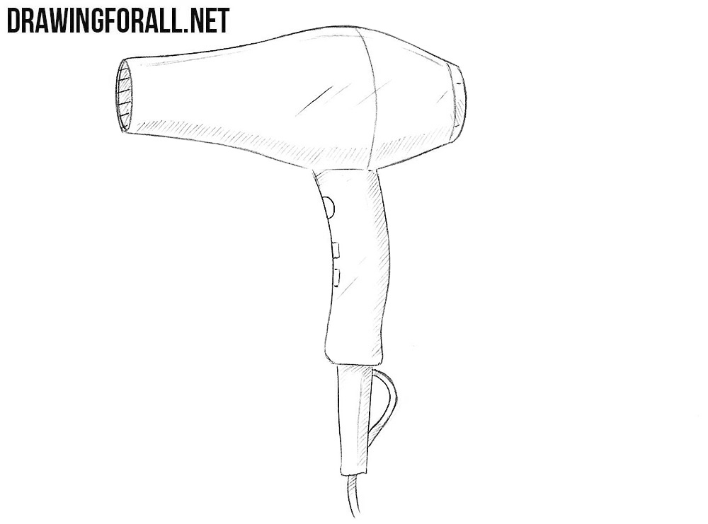 Hair Dryer Drawing ~ How to draw a hair dryers drawingforall