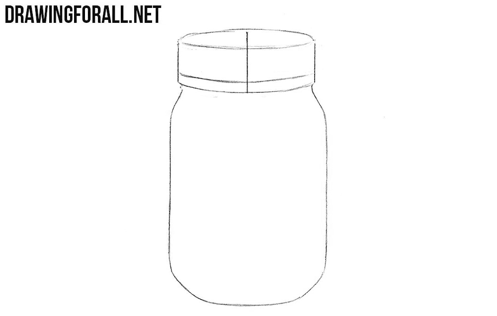 How to draw a jar step by step