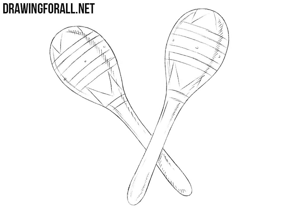 How to draw a maracas