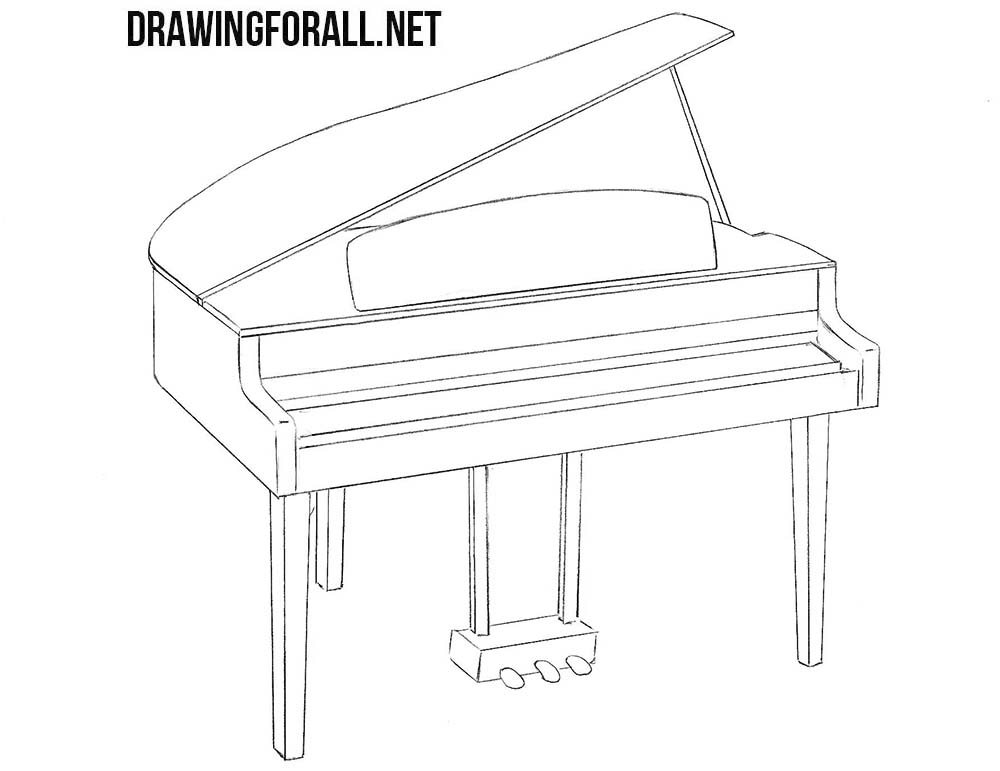 How to draw a realistic piano