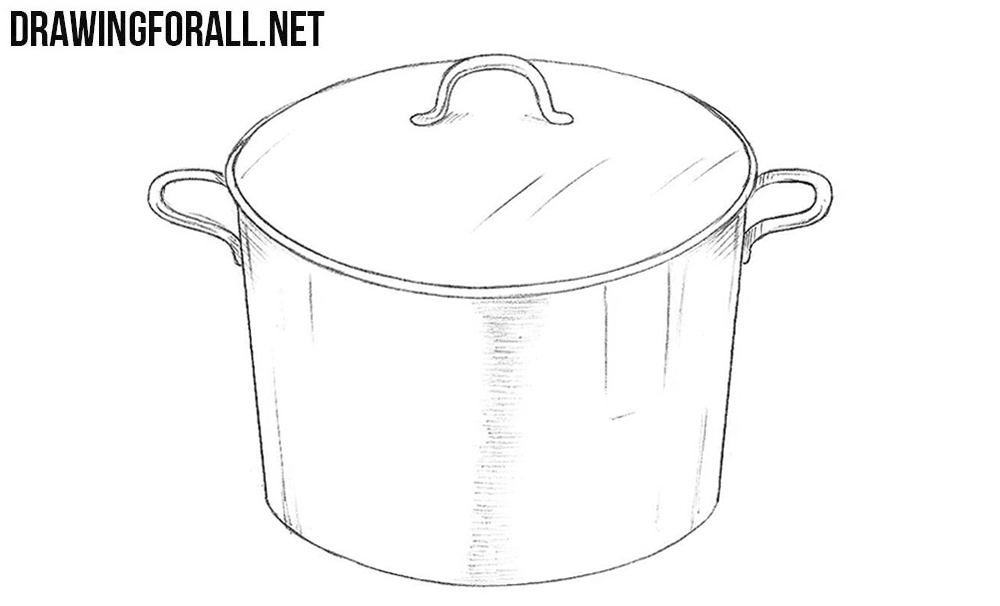 5 How to draw a saucepan