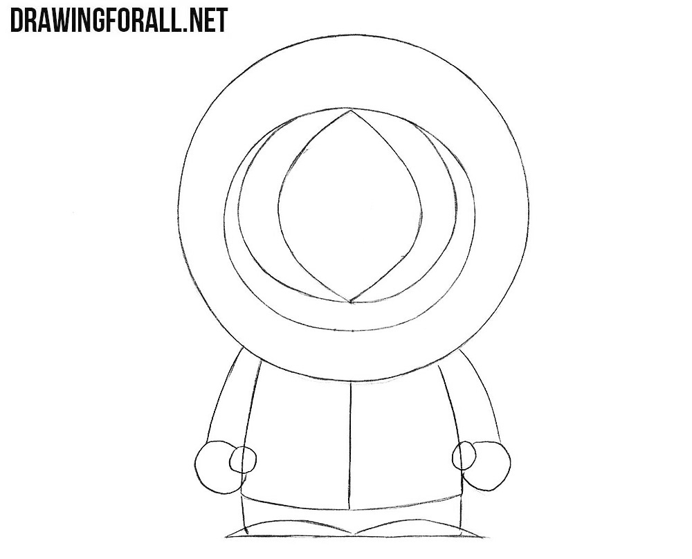 How to Draw Kenny from South Park | DrawingForAll.net