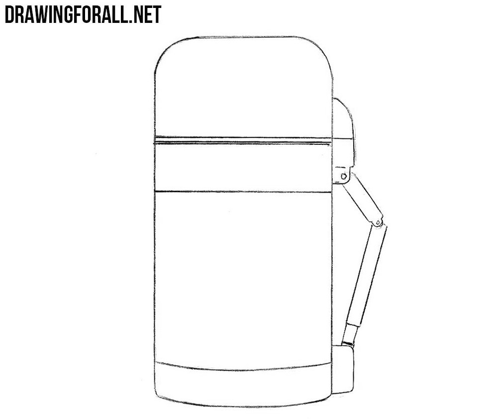 Learn to draw a thermos step by step