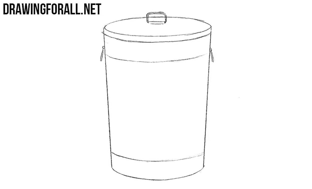 Learn to draw a trash can step by step