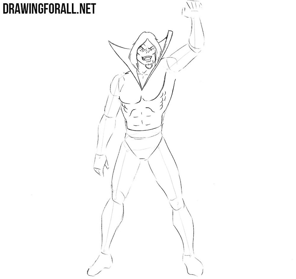 Morbius drawing tutorial