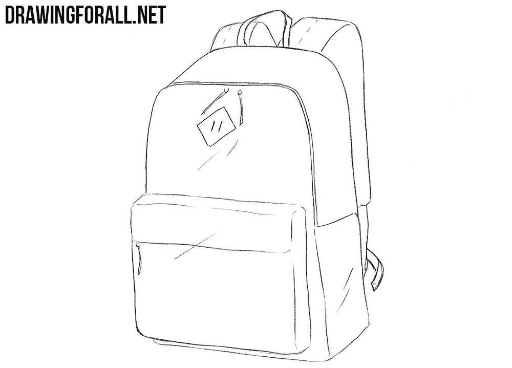 Schoolbag drawing tutorial